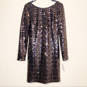 Eliza J Nordstrom sequined long sleeve mini dress